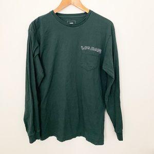 Vans off the wall Long sleeve green shirt